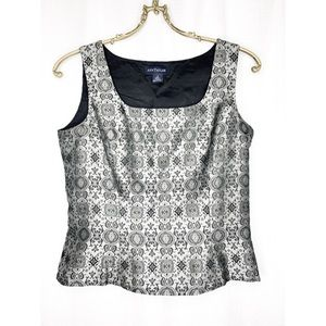 Ann Taylor silver-grey 100% silk sleeveless top